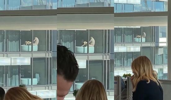 Entire Office Enjoys Sex Show